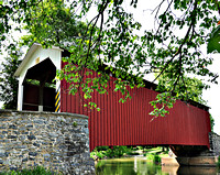 Erb's Mill Covered Bridge Close View